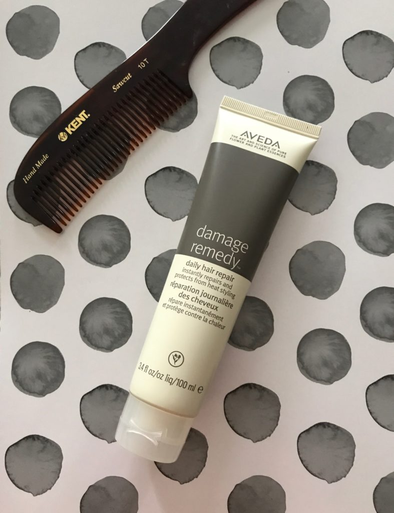 Aveda Damage Remedy tube with Kent comb, neversaydiebeauty.com