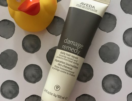 Aveda Damage Remedy Daily Hair Repair tube with rubber duckie, neversaydiebeauty.com