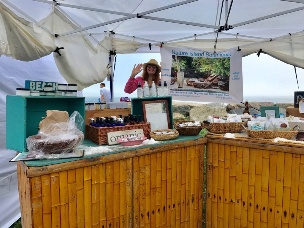 Daphne from Nature Island Botanicals at her booth, neversaydiebeauty.com