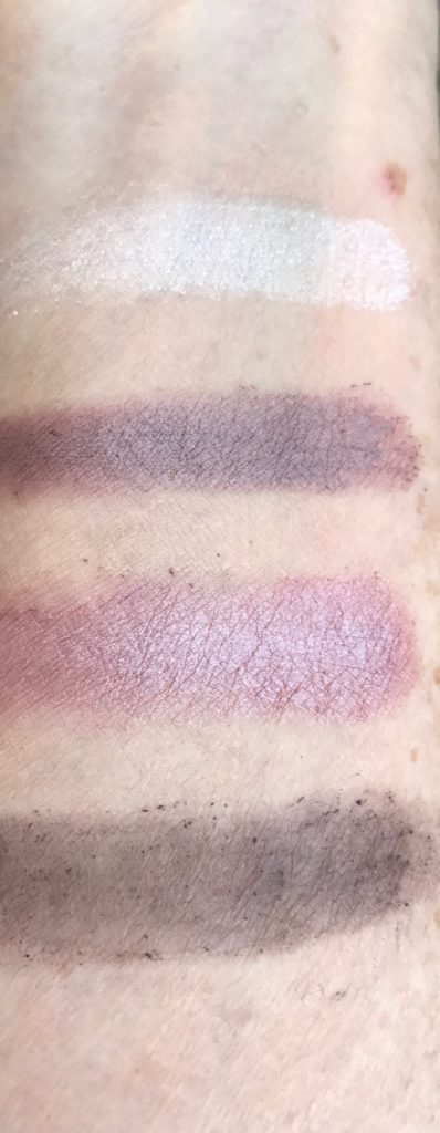 Eddie Funkhouse Hyperreal Eye Color Palette, Bedroom Eyes, purple-plum toned swatches, neversaydiebeauty.com