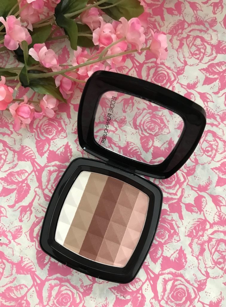Eddie Funkhouser Ultra Density Bronzer & Sculpting Powder, open compact to show the 5 shades, neversaydiebeauty.com