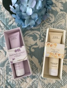 Farmhouse Fresh Steeped Milk Lotions hand creams in their outer packaging, neversaydiebeauty.com