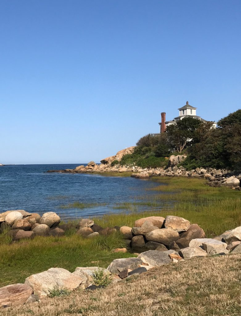 Good Harbor Beach with Birdcage house in distance, neversaydiebeauty.com