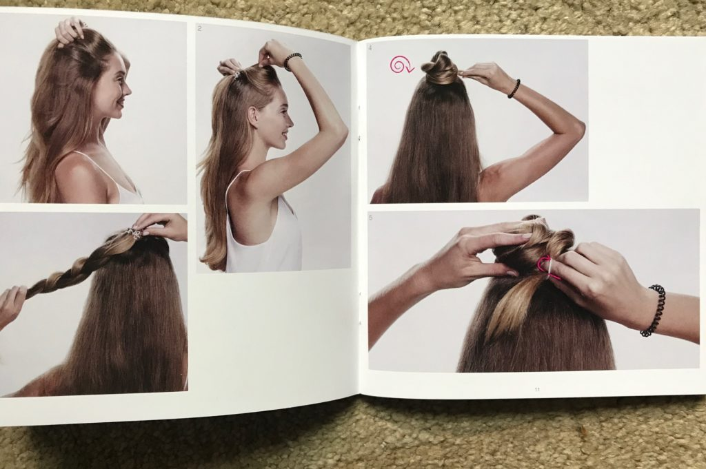 step by step hairstyle instructions for Invisibobble, neversaydiebeauty.com