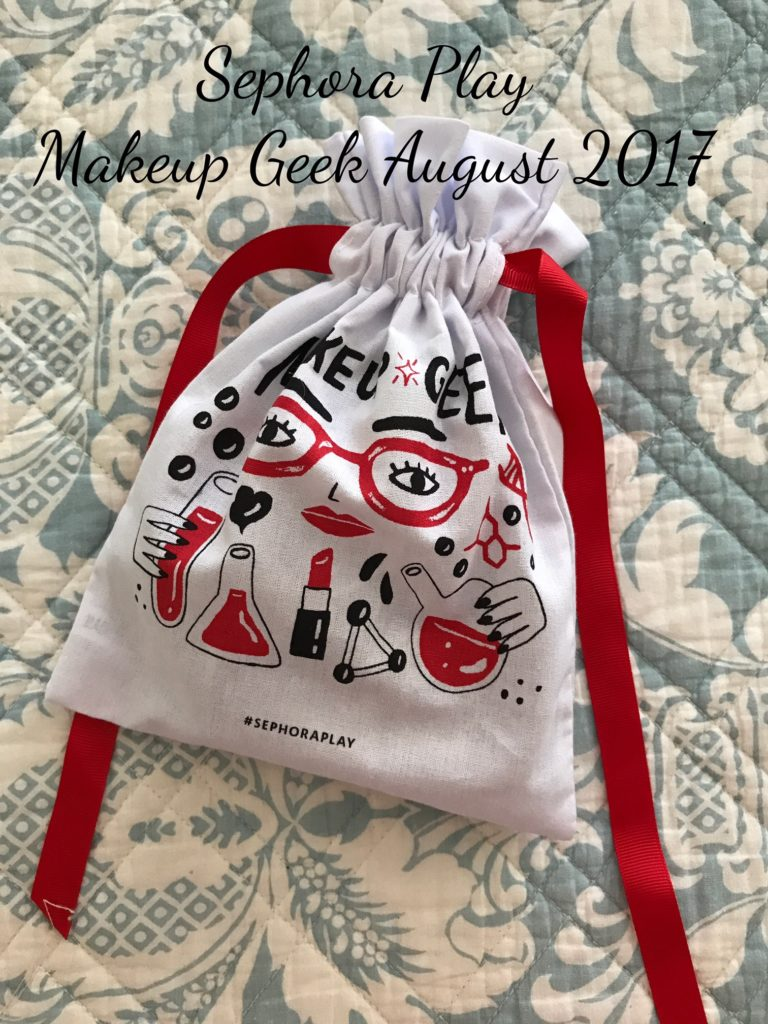 Sephora Play bag, August 2017, Makeup Geek, neversaydiebeauty.com