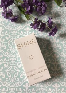 Shine Brightening Facial Oil, outer box, neversaydiebeauty.com