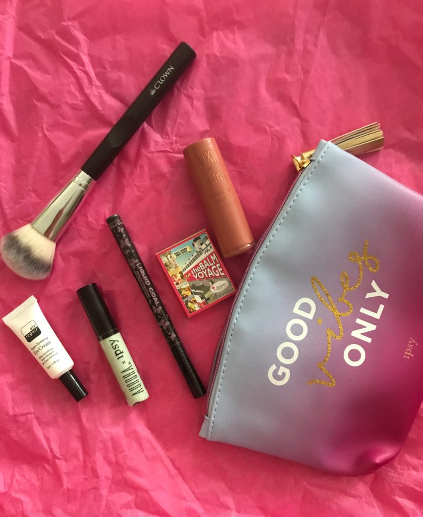 contents of my Ipsy Good Vibes Only bag for August 2017, neversaydiebeauty.com