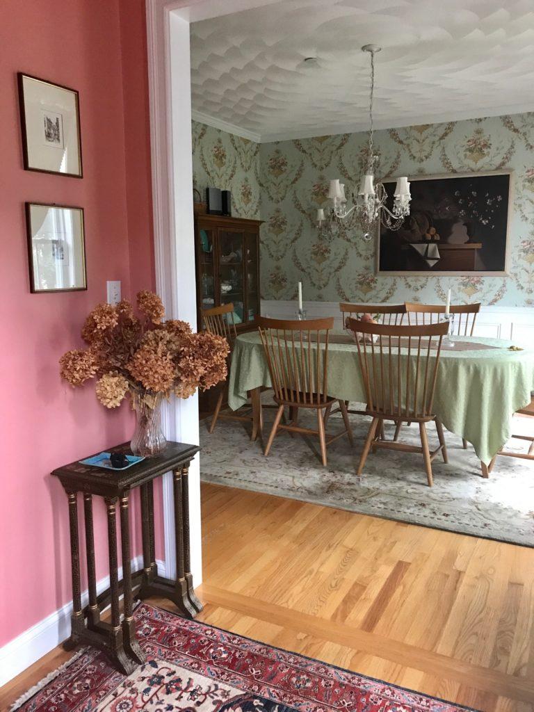 hallway into dining room, neversaydiebeauty.com