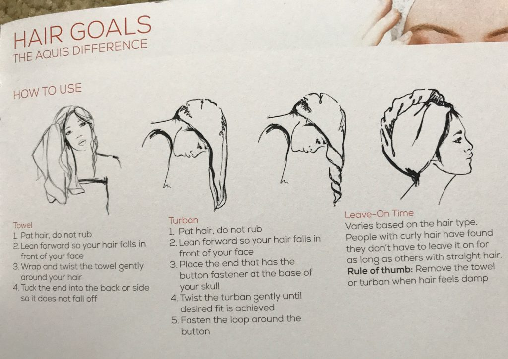 how to use Aquis hair turban after shampooing your hair, neversaydiebeauty.com