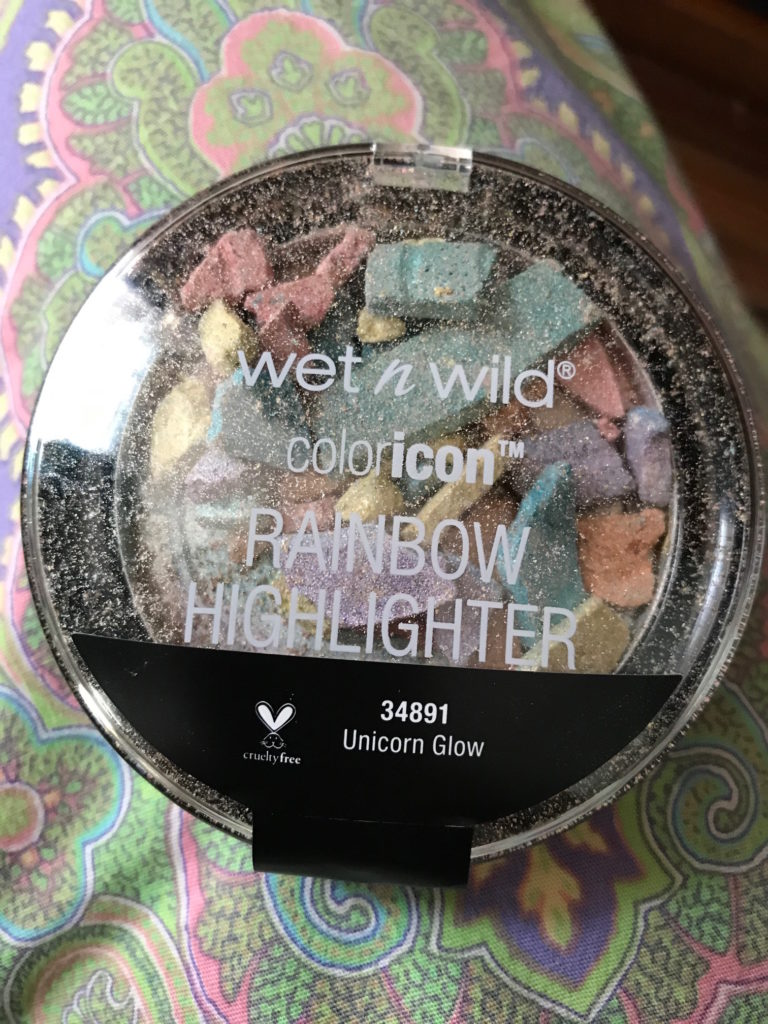 smashed Wet N Wild Rainbow Highlighter in Unicorn Glow, neversaydiebeauty.com