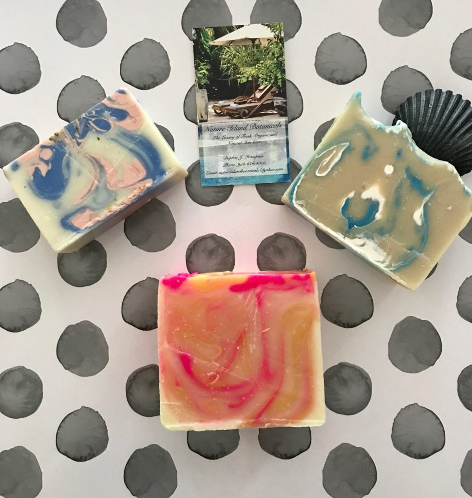 3 handcrafted bar soaps from Nature Island Botanicals, neversaydiebeauty.com