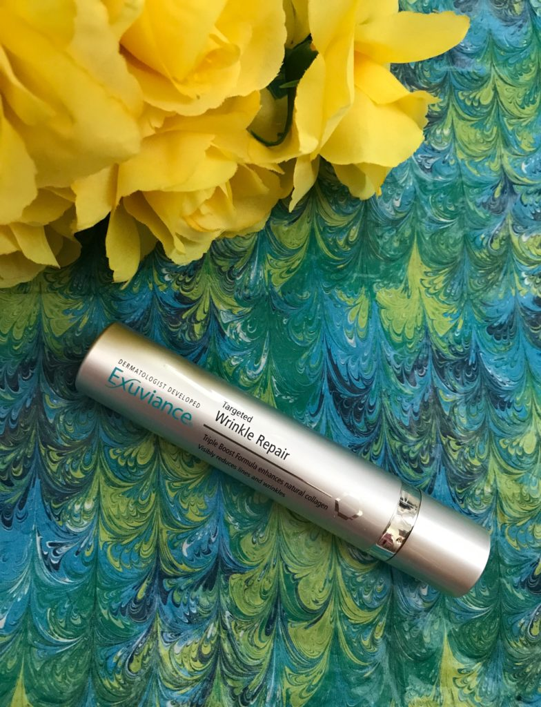 tube of Exuviance Targeted Wrinkle Repair, neversaydiebeauty.com