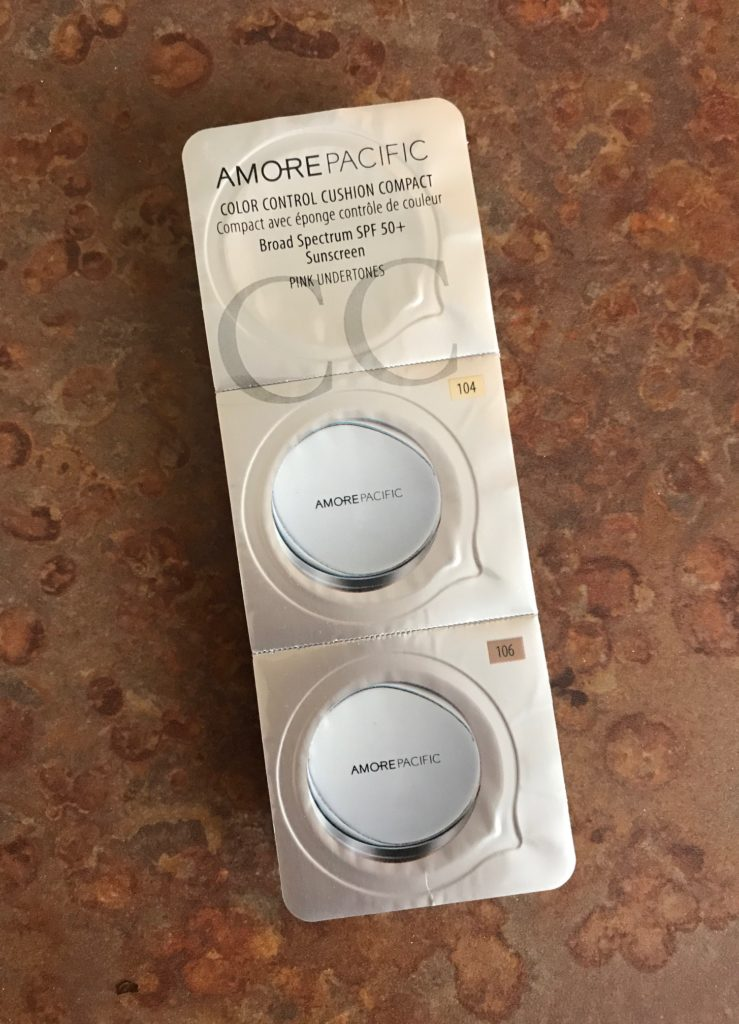 AmorePacific Color Control Cushion Compact samples, neversaydiebeauty.com