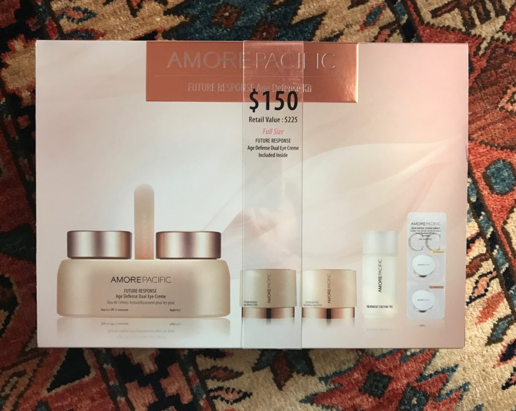 AmorePacific Future Response Age Defense Kit, outer packaging, neversaydiebeauty.com