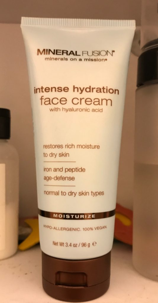 Mineral Fusion Intense Hydration Face Cream, moisturizer with hyaluronic acid in a squeeze tube, neversaydiebeauty.com