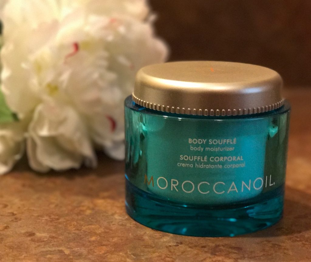 jar of MoroccanOil Body Souffle in Fragrance Originale, neversaydiebeauty.com