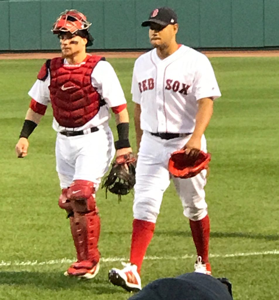 Red Sox catcher Vasquez and Eduardo Rodriguez, pitcher, neversaydiebeauty.com