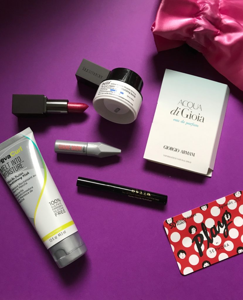 opened contents of Sephora Play bag for September 2017, neversaydiebeauty.com