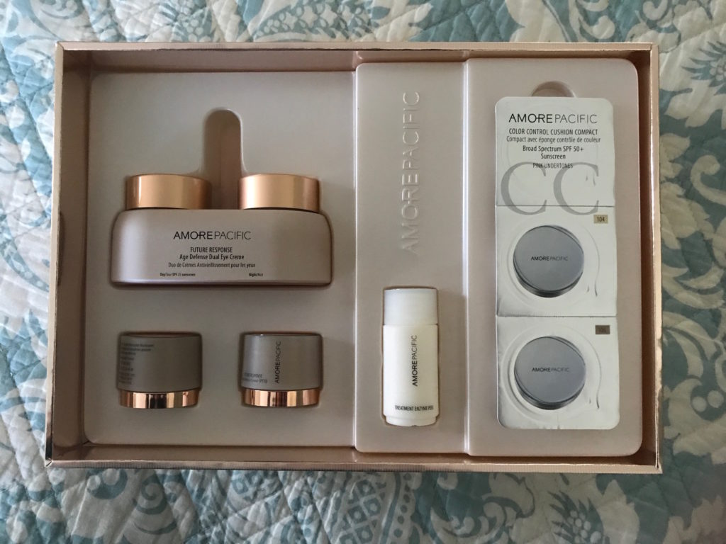 open box, AmorePacific Future Response Age Defense kit, neversaydiebeauty.com