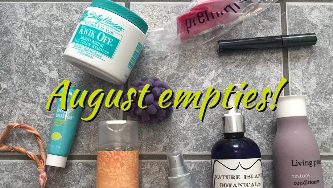 beauty empties for August 2017, neversaydiebeauty.com