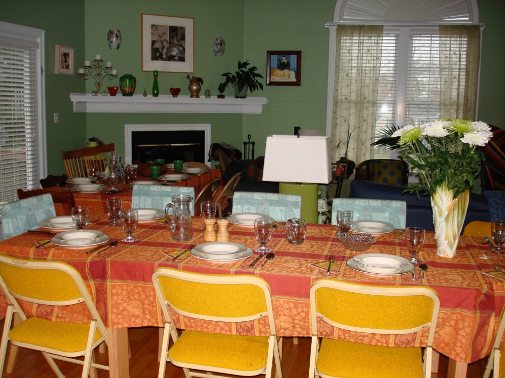 two tables for Thanksgiving, neversaydiebeauty.com