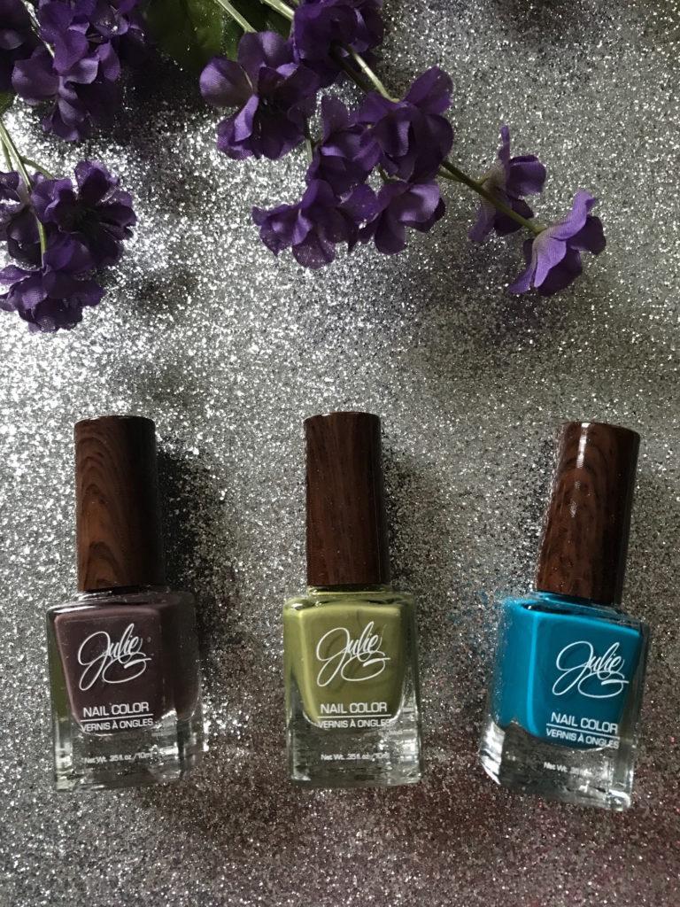 Julie G Nail Color, Bohemian collection: Henna, Eden, Karma, neversaydiebeauty.com