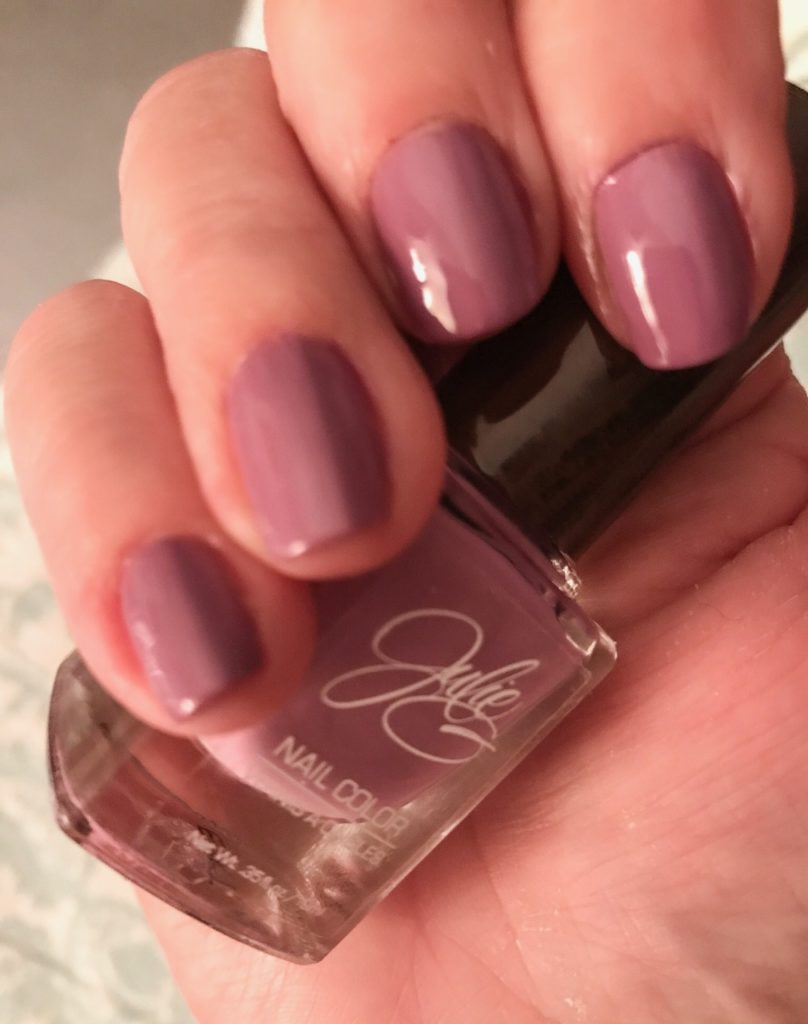 my nails wearing Julie G Nail Color, Bohemian collection, Faith in sunlight, neversaydiebeauty.com