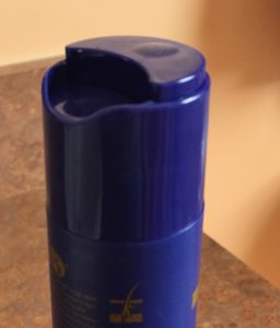 push-down bottle top for LotusRx Shampoo and Conditioner bottles, neversaydiebeauty.com