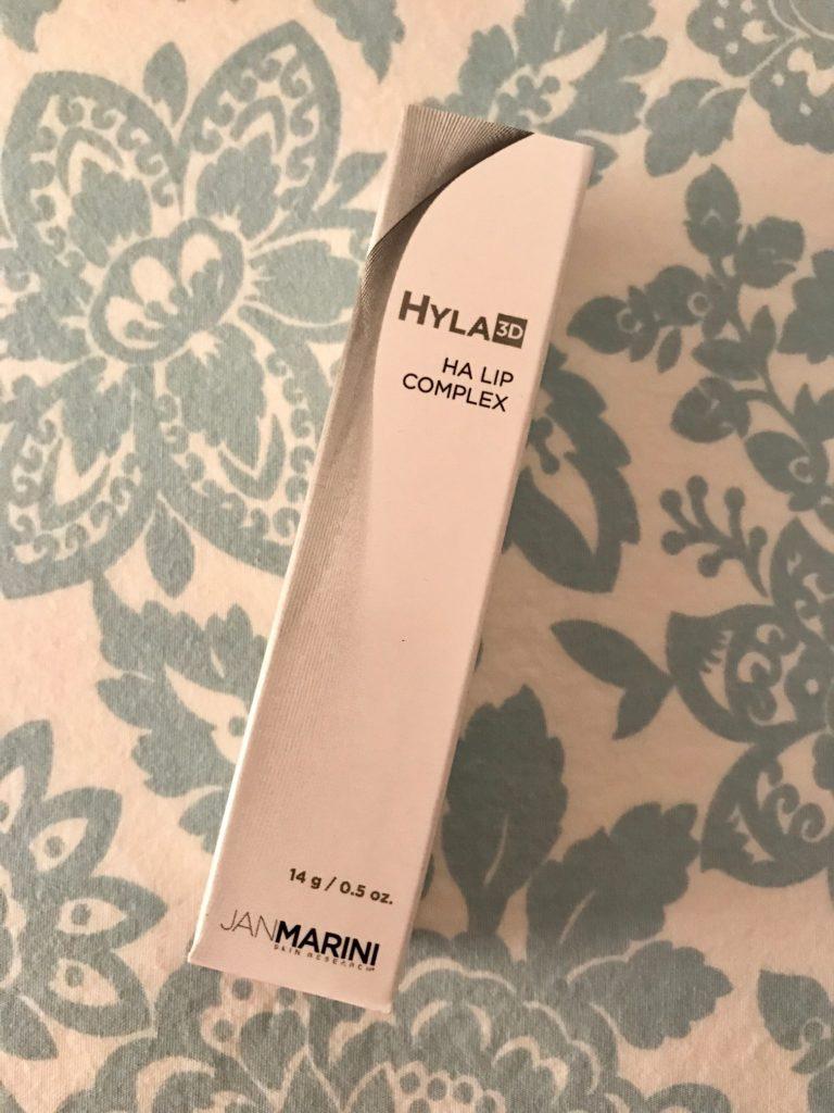 Jan Marini Hyla3D HA Lip Complex outer packaging, neversaydiebeauty.com