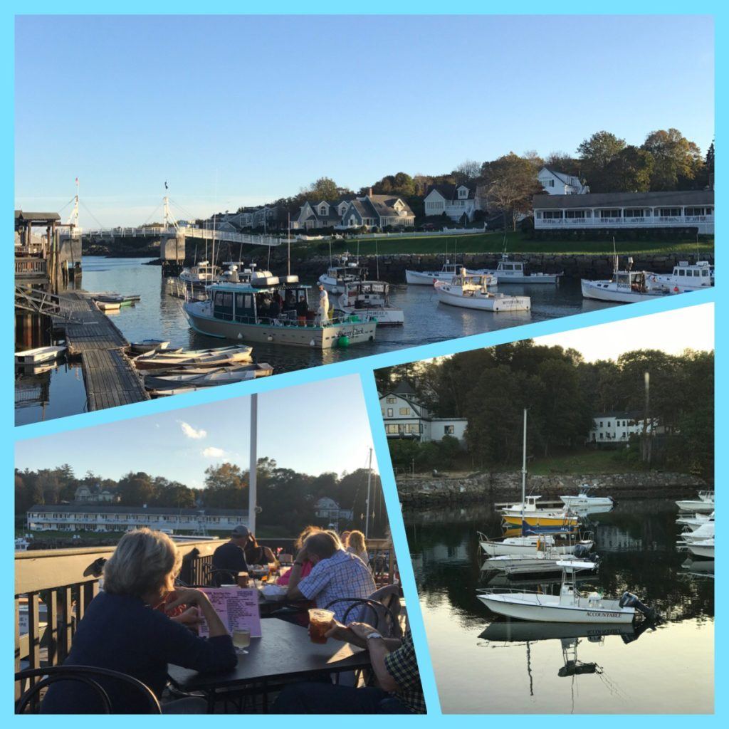 Perkins Cove Maine, view from Barnacle Billy's Restaurants, neversaydiebeauty.com