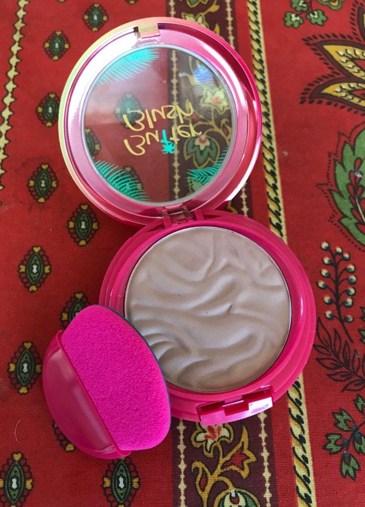 Open Physicians Formula Murumuru Butter Blush compact in Plum Rose with applicator, neversaydiebeauty.com