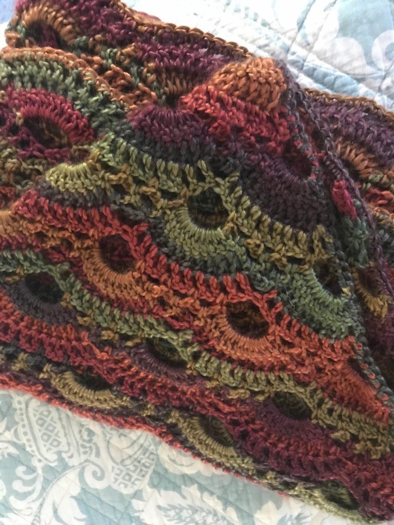 Crocheted Virus Shawls Never Say Die Beauty