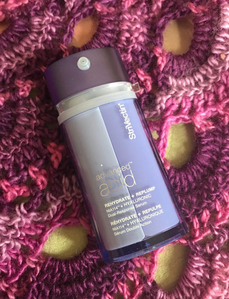 StriVectin Advanced Acid Hyaluronic Acid Dual-Response Serum pump bottle, neversaydiebeauty.com
