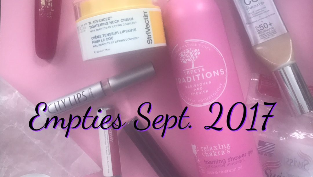 beauty empties September 2017, neversaydiebeauty.com