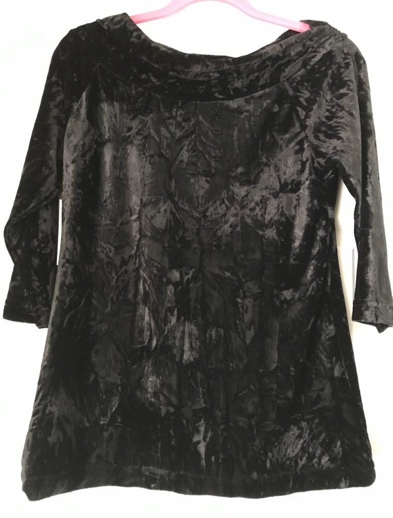 crushed velvet 3/4 sleeve top, neversaydiebeauty.com