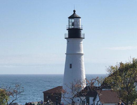 closeup Portland Head Lighthouse, neversaydiebeauty.com