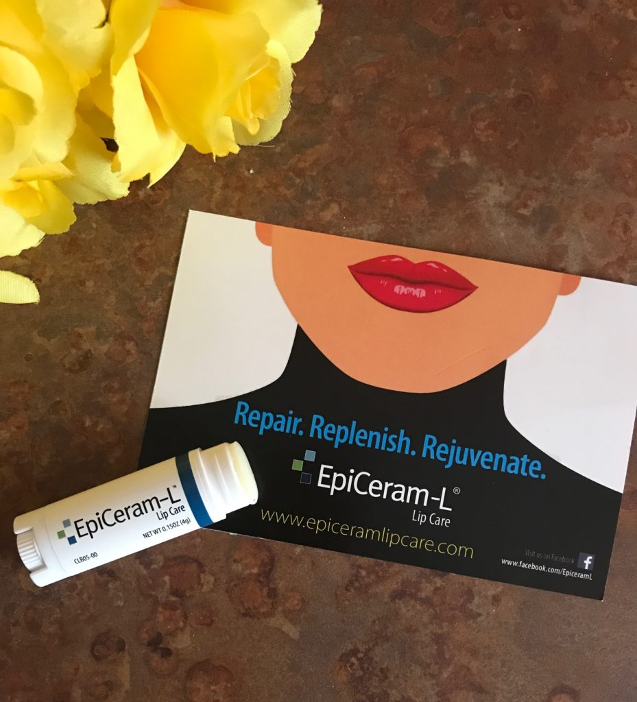 open tube of EpiCeram-L Lip Care to show the bullet, neversaydiebeauty.com