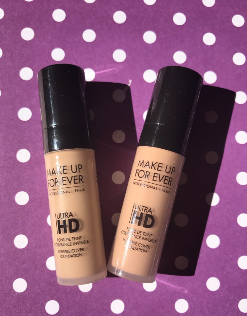 travel size versions of MUFE UltraHD Foundation in Y225 & R230, neversaydiebeauty.com