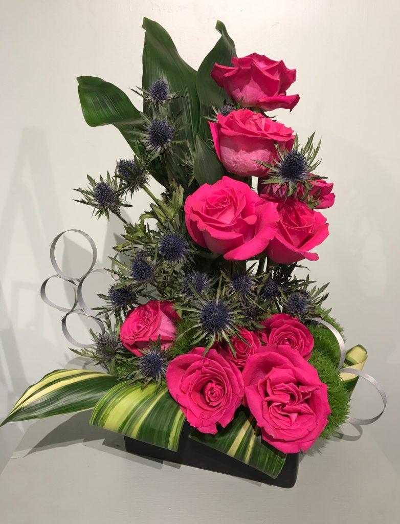 vertical rose display Topsfield Fair 2017, neversaydiebeauty.com