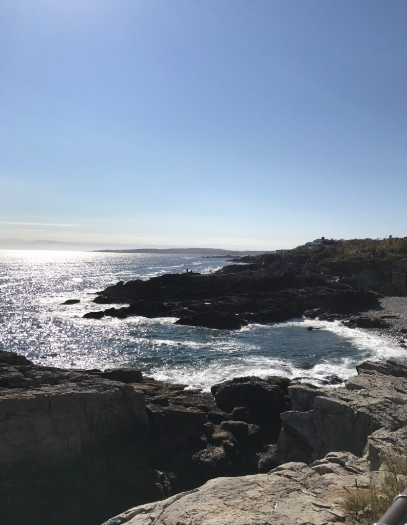 view of the Atlantic Ocean from the Portland Head Light, neversaydiebeauty.com