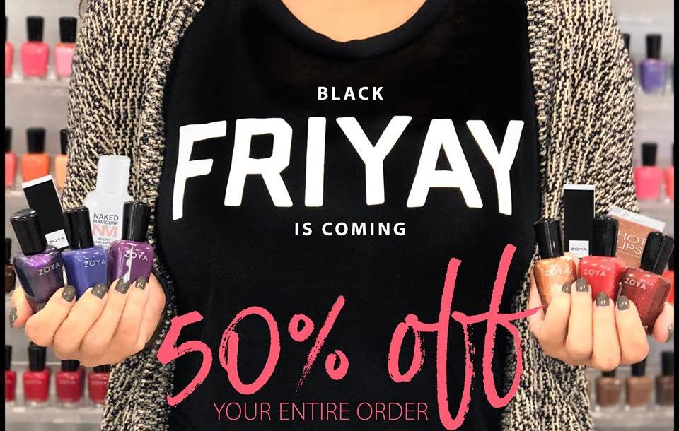 Zoya Nail Polish and Treatments Black Friday sale