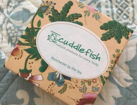 Cuddlefish label and box, neversaydiebeauty.com