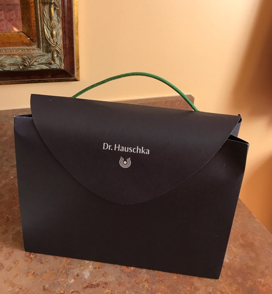 Dr. Hauschka carrying case for skincare products, neversaydiebeauty.com