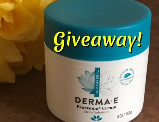 Derma E Psorzema Cream with giveaway title, neversaydiebeauty.com