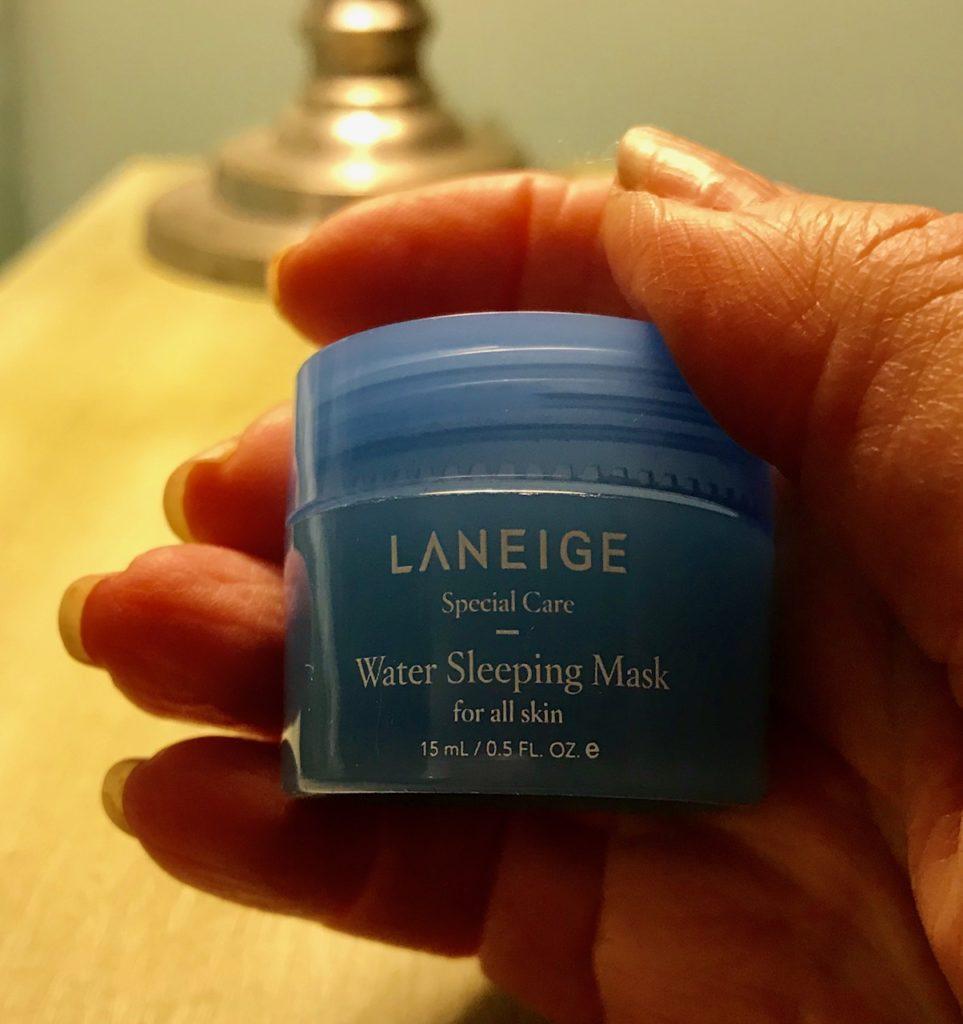 Laneige Water Sleeping Mask in a travel size jar, neversaydiebeauty.com