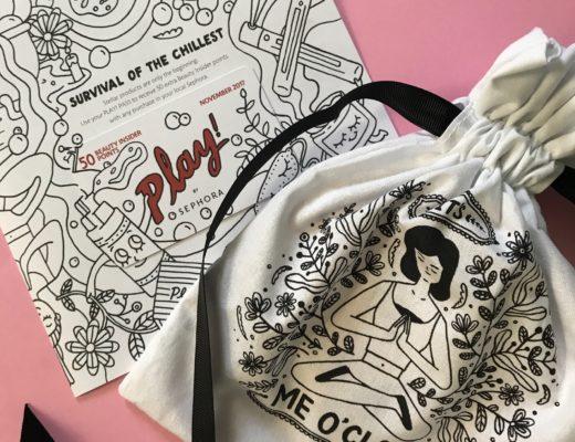 Sephora Play! bag for November 2017, neversaydiebeauty.com