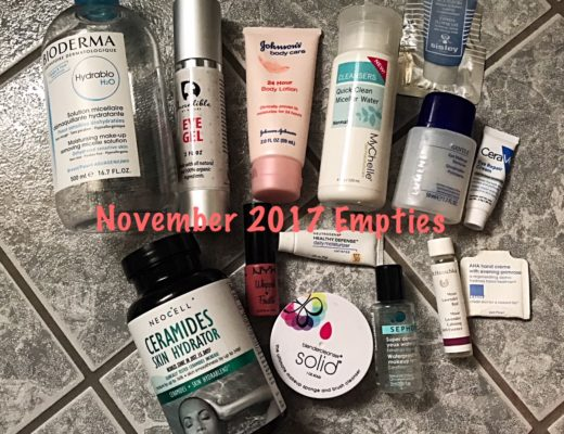 beauty empties for November 2017, neversaydiebeauty.com