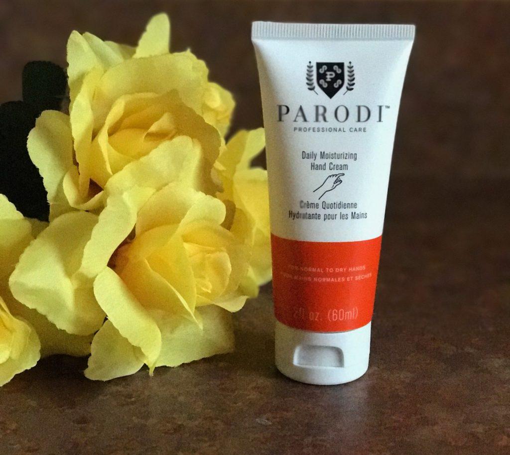 Parodi Daily Moisturizing Hand Cream tube, neversaydiebeauty.com