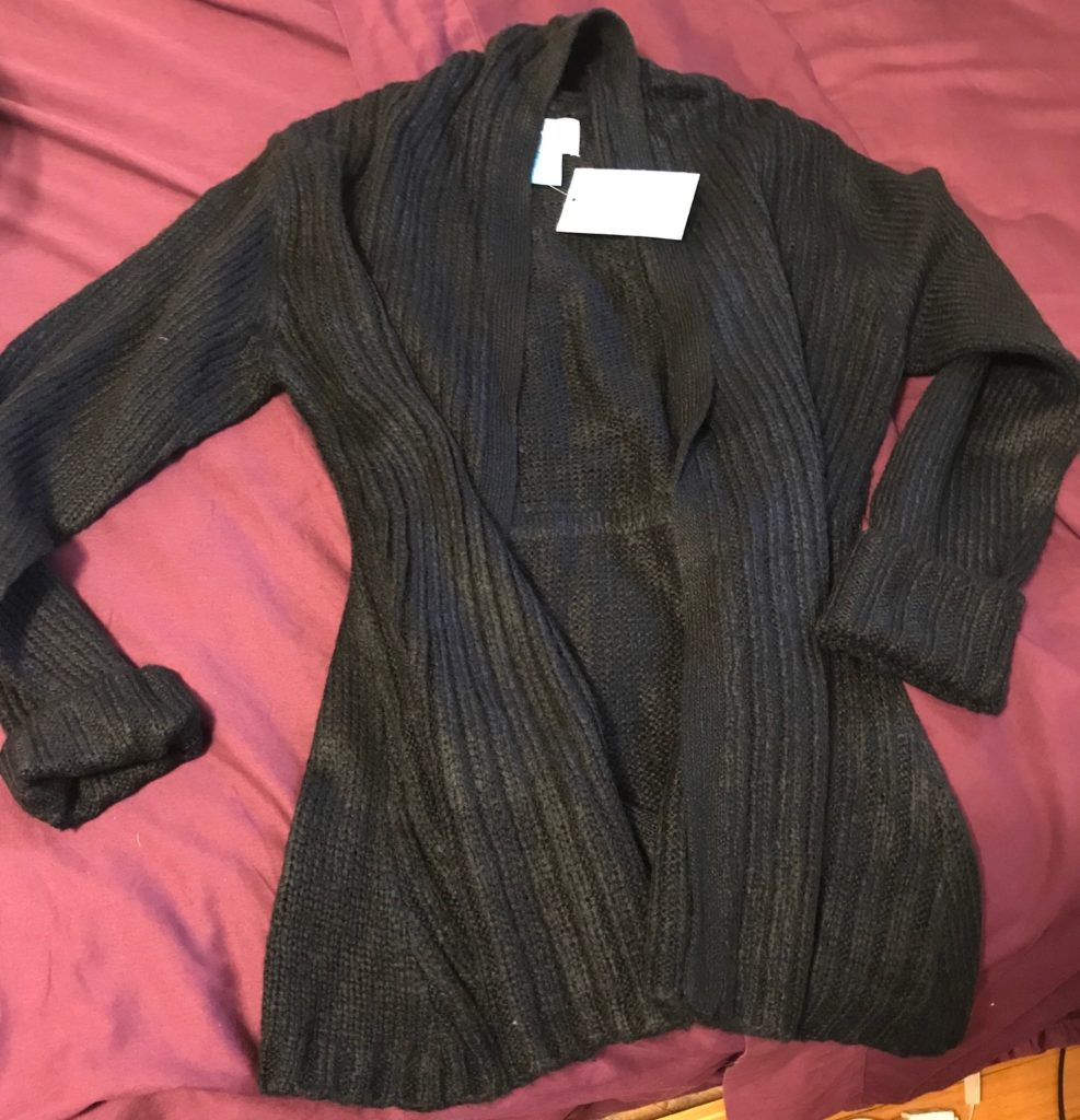 cozy black long sweater from Survival, neversaydiebeauty.com