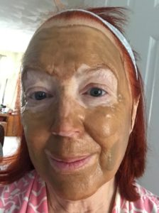 me wearing Surya Brasil Clay Mask, neversaydiebeauty.com